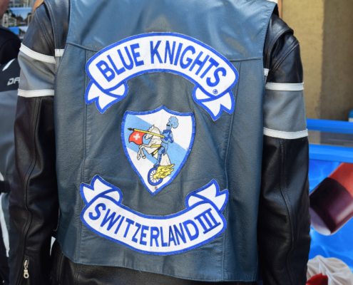 Fotografie Red Knights Germany 1 Visit CH 1 Ausflug Blue Knight Kutte