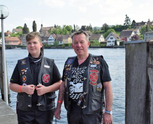Fotografie Red Knights Germany 1 Visit CH 1 Ausflug Heizer und Paul posiern nah